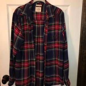 AE boyfriend fit flannel worn once size XL